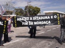 SINTAP e servidores juntos no manifesto da Mordaça no dia 1º de setembro de 2012