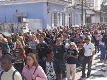 Passeata promovida pelo SINTAP nas ruas da região central